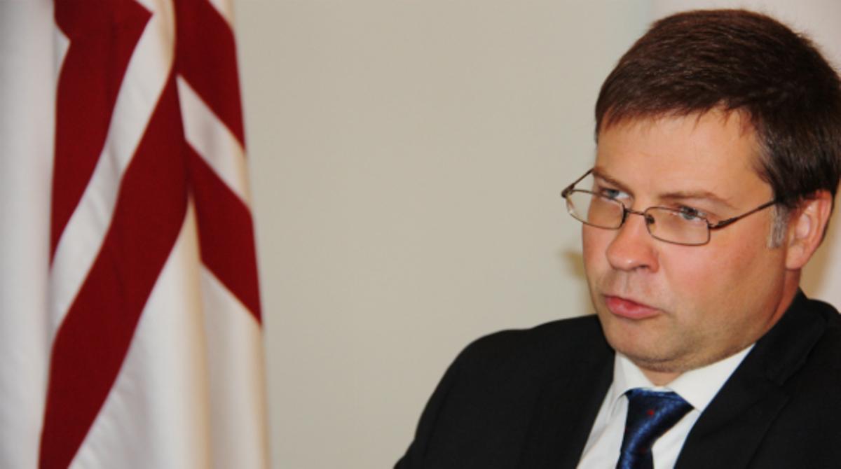 El primer ministro de Letonia, Valdis Dombrovskis, sobre el reconocimiento de una Catalunya independiente: Si es un proceso legítimo, ¿por qué no?
