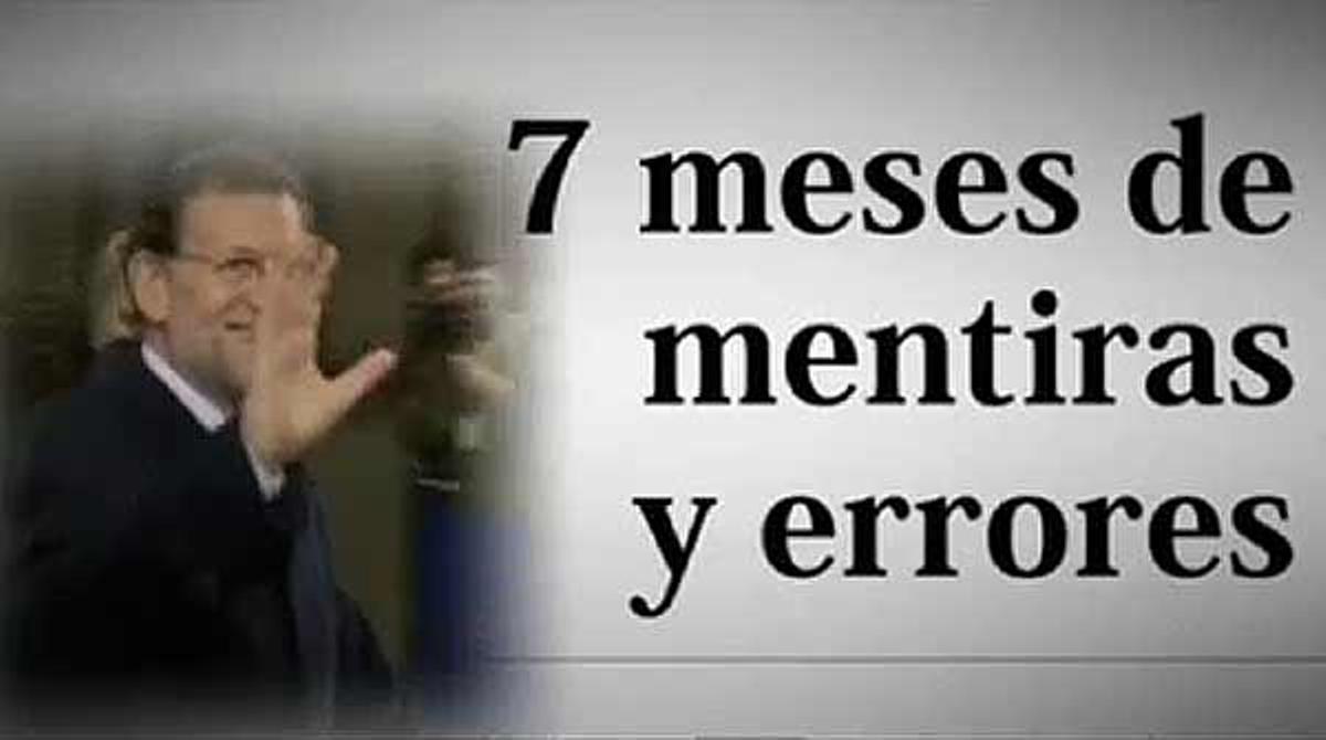 Vídeo de propaganda del PSOE para criticar las contradicciones del Gobierno de Mariano Rajoy