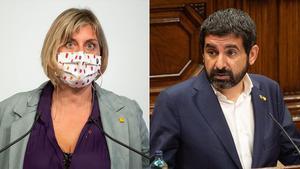 Los 'consellers' Vergés y El Homrani.