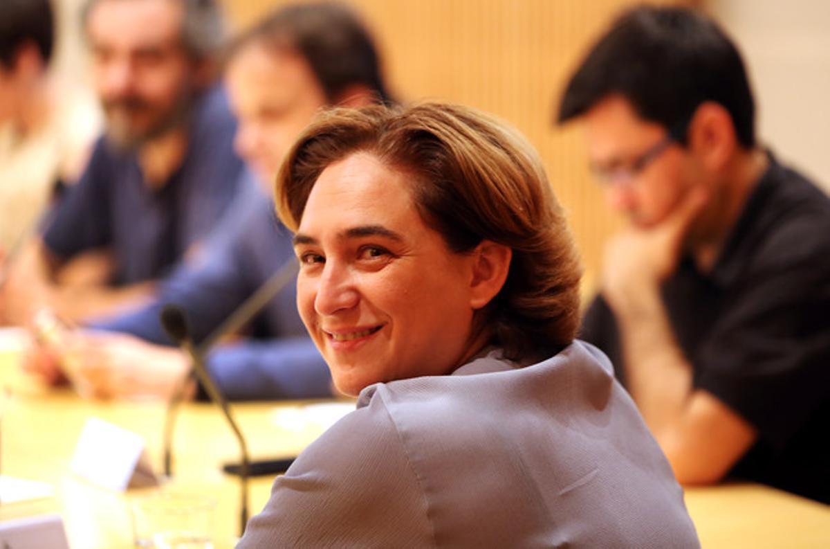 Ada Colau, durante su primera comisión de Gobierno la semana pasada.