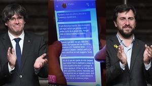 Los mensajes de Carles Puigdemont a Toni Comín.