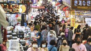 Mercado de Bujeon en Busan.