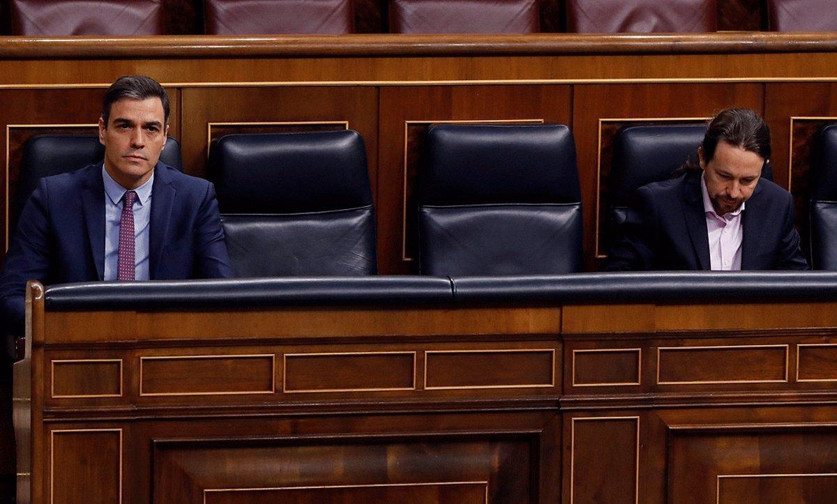 Pedro Sánchez y Pablo Iglesias, en una foto de archivo.