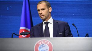 Aleksander Ceferin, en una reciente comparencia ante el prensa