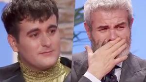Palomo Spain y Lorenzo Caprile emocionados en la gran final de 'Maestros de la costura 3'.