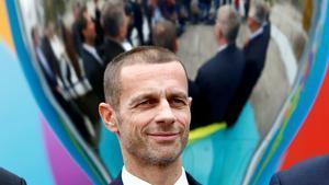 El presidente de la UEFAAleksander Ceferin.