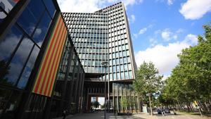 El edificio de Mediapro, esta mañana.