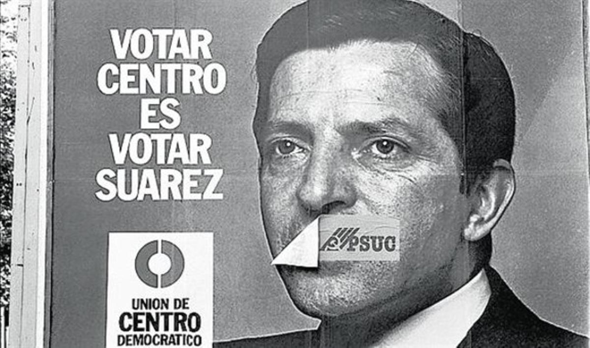 Candidato. Cartel electoral de la UCD en 1977.