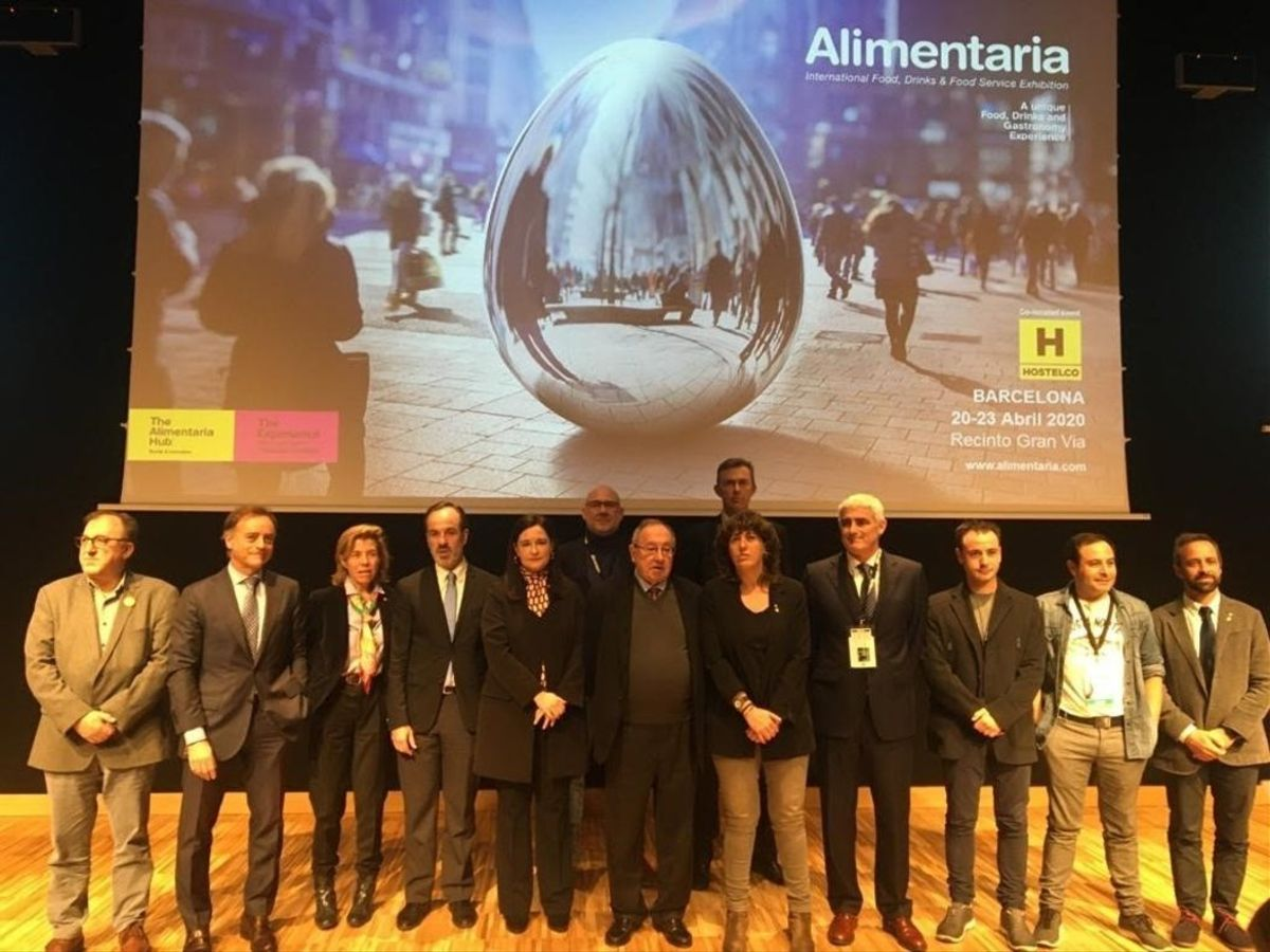 Acto de presentación de la feria Alimentaria, que se había programado para abril del 2020 en Barcelona.