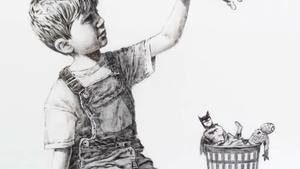 La obra de Banksy, 'Game Changer'