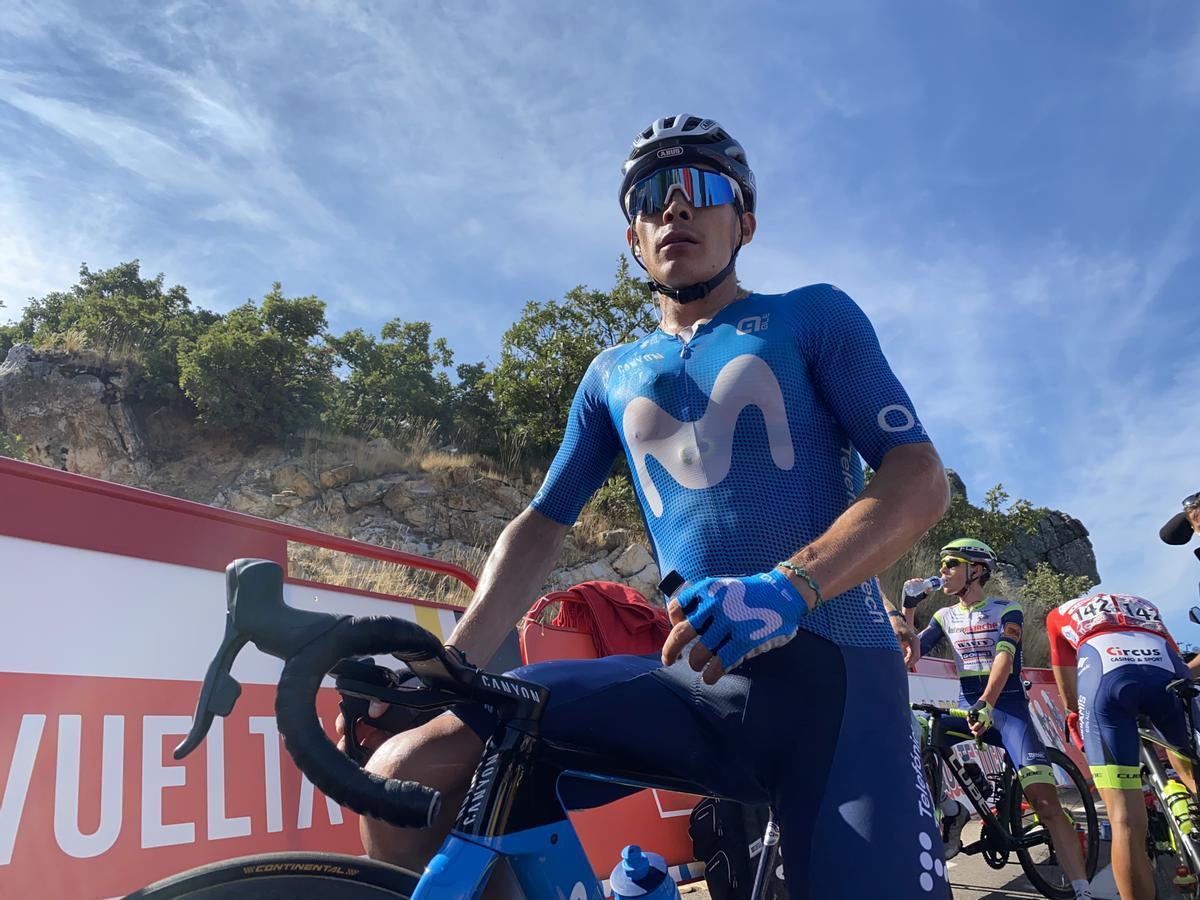 Miguel Ángel López, en la etapa de la Vuelta que rodó por Extremadura.