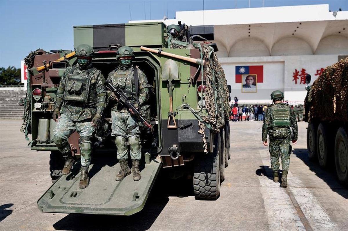 Militares taiwaneses, en unas recientes maniobras.
