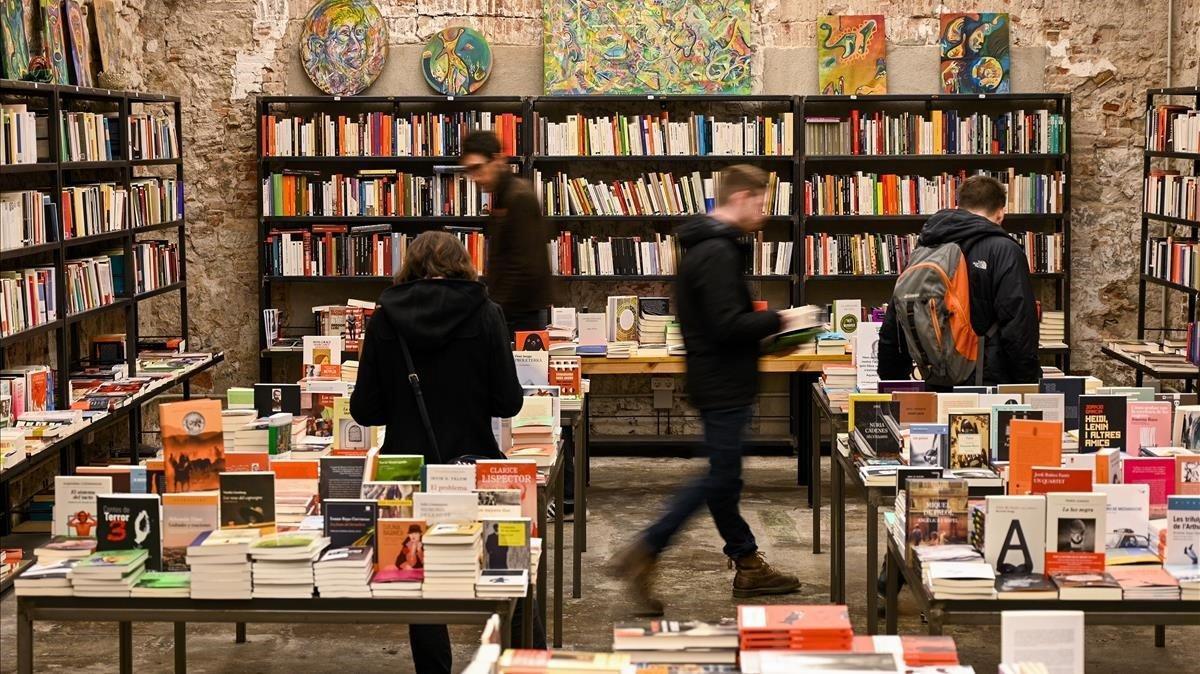 La librería Calders, días antes del pasado Sant Jordi.