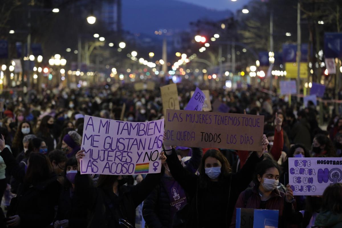 Protesta del Día de la Mujer el pasado 8 de marzo en Barcelona.