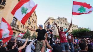 Manifestación antigubernamental en Beirut.