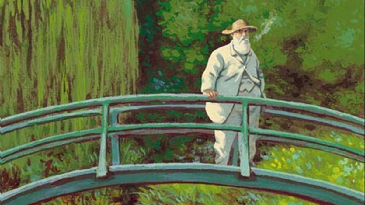 Fragmento de la portada del cómic de Efa sobre Monet.