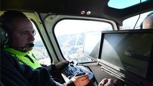 Trànsit 07 sobrevuela los accesos a Barcelona a la caza de los infractores.