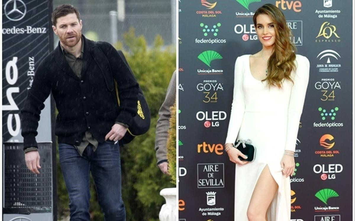 Xabi Alonso y Ona Carbonell.