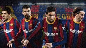 Elmosaico que prepara el Barça para la fachada del Camp Nou.