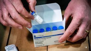 Vacunas de Janssen en un centro de vacunación de Países Bajos, este lunes.