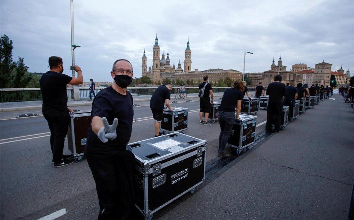 Manifestación de Alerta Roja en Zaragoza el pasado 17 de septiembre.