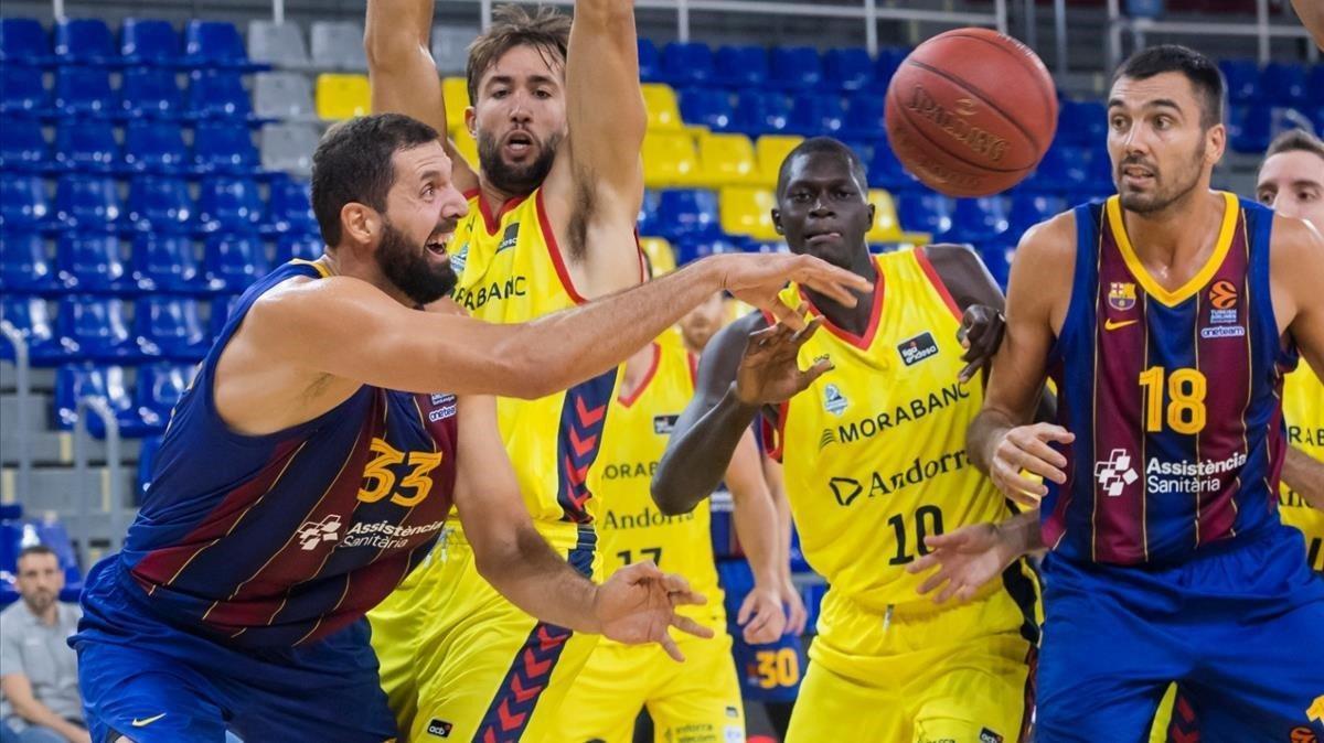 Mirotic, en un momento de la final catalana ante el Andorra.