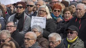 Concentración de pensionistas.