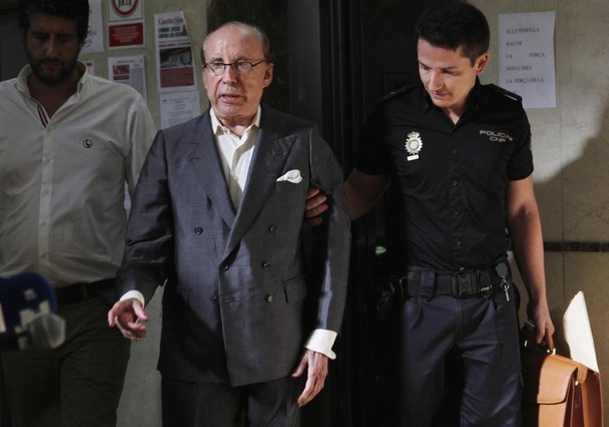 José María Ruiz-Mateos, en agosto del 2012, llegando a los juzgados de Palma para declarar.