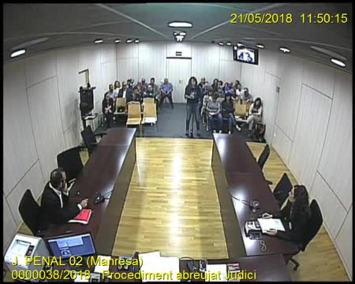 Declaración final en el juicio a Montse Venturós en los juzgados de Manresa.