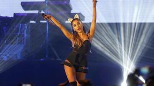 Ariana Grande, durante un concierto en Yakarta (Indonesia).