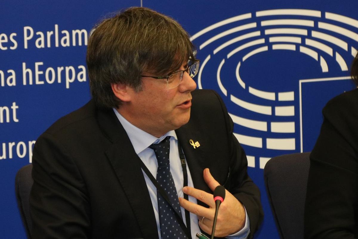 Carles Puigdemont, en Estrasburgo.