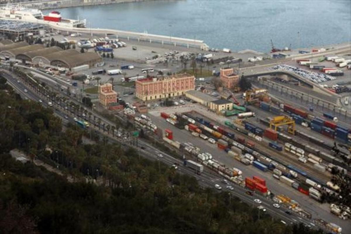 Imagen del puerto, en el área del Morrot, el pasado mes de marzo.