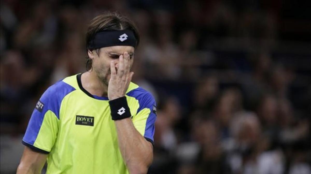 Ferrer lamenta un punto perdido en la final de París-Bercy.