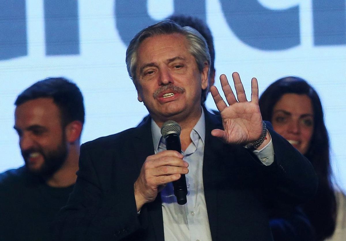 Alberto Fernández, candidato presidencial en Argentina.