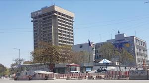 La sede delMinisterio de Información y Tecnología en Kabul, Afganistán.