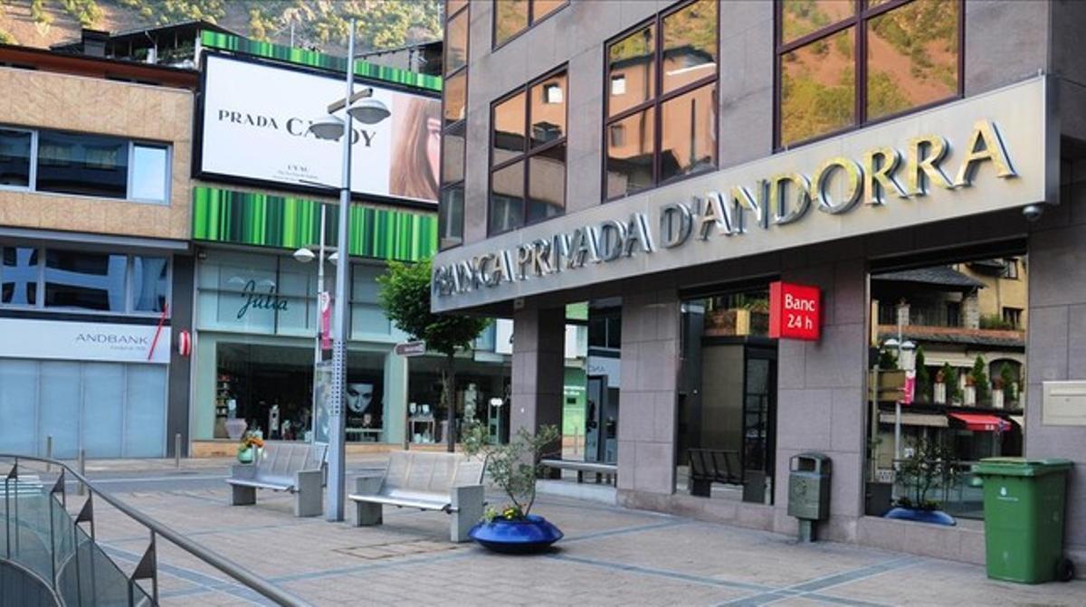 Oficina de la Banca Privada de Andorra (BPA), en Andorra la Vella.