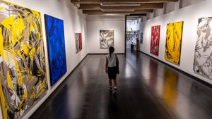 Una imagen de la exposición '¿Otra vez?', de Yago Hortal, en la galería Senda, una de las participantes en el Barcelona Gallery Weekend.