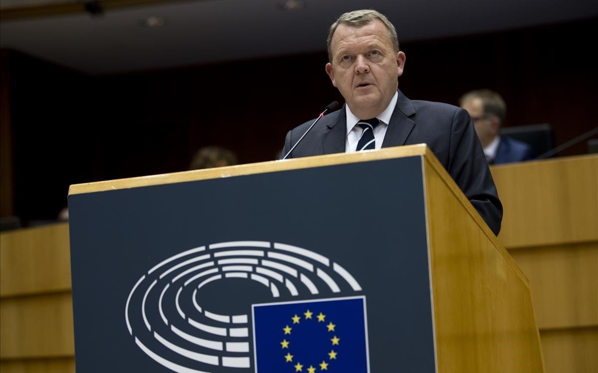Lars Rasmussen, presidente de Dinamarca.