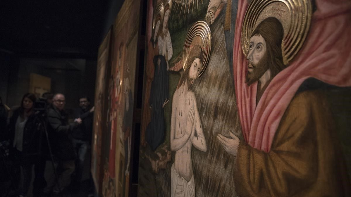 Una de la scinco tablas del retablo de Sant Joan de Lleida de Pere Garcia de Benavarri.