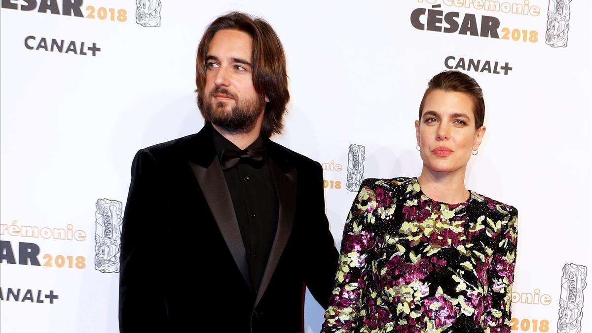 Carlota Casiraghi y Dimitri Rassam, en los premios César en París, el 2 de marzo.