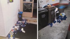 La basura se acumula en comisarías de la Ertzaintza de Guipúzcoa.