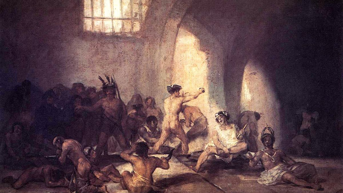 Con 'Casa de locos', Goya retrata el trato que recibían los alienados hace dos siglos.