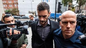 Hugo Lloris entra al juzgado.