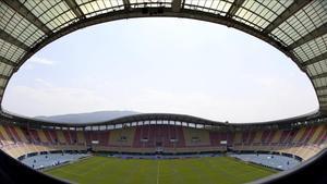 Estadio Filip II de Skopje, sede de la Supercopa de Europa 2017.