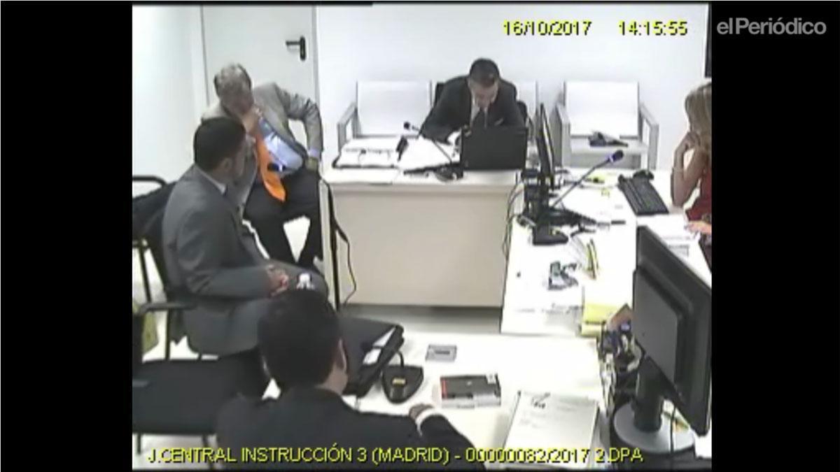 Josep LluísTrapero durante su declaración ante la juez Lamela.