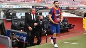Presentación de Kun Agüero como nuevo jugador del Barça.