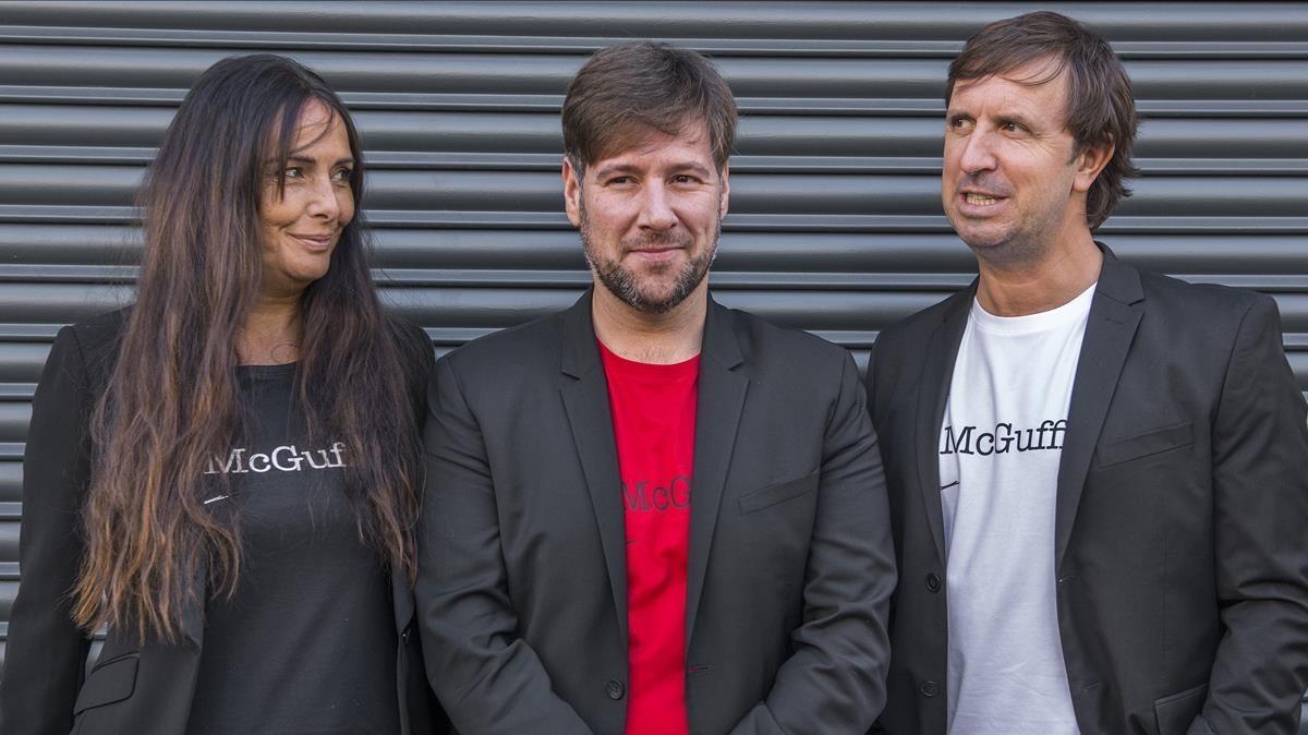 Mònica Pérez,Carlos Latre y Jordi Ríos, responsables de 'McGuffin'.