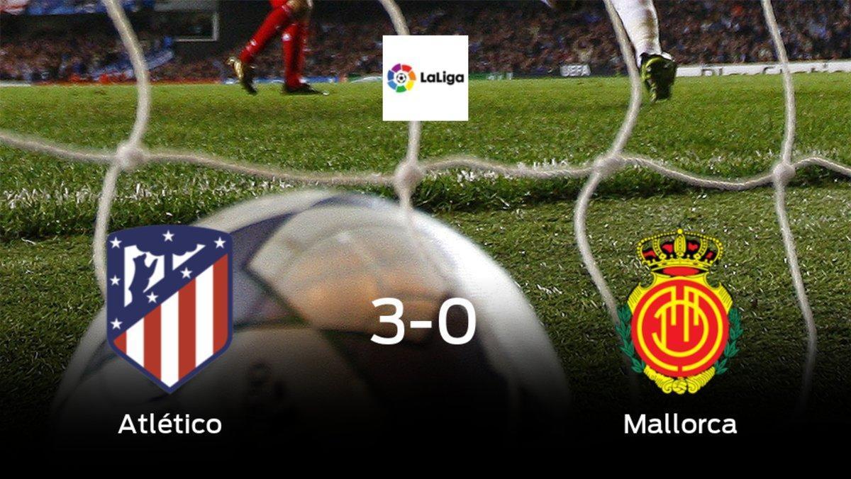 El Atlético de Madridse hace con los tres puntos tras golear al Mallorca en casa (3-0)