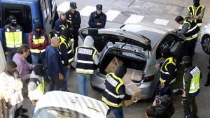 La Policía Nacional se incauta, el 26 de octubre del 2017, de decenas de cajas de documentos que los Mossos llevaban a incinerar. En una de ellas apareció la nota del espionaje de EEUU.