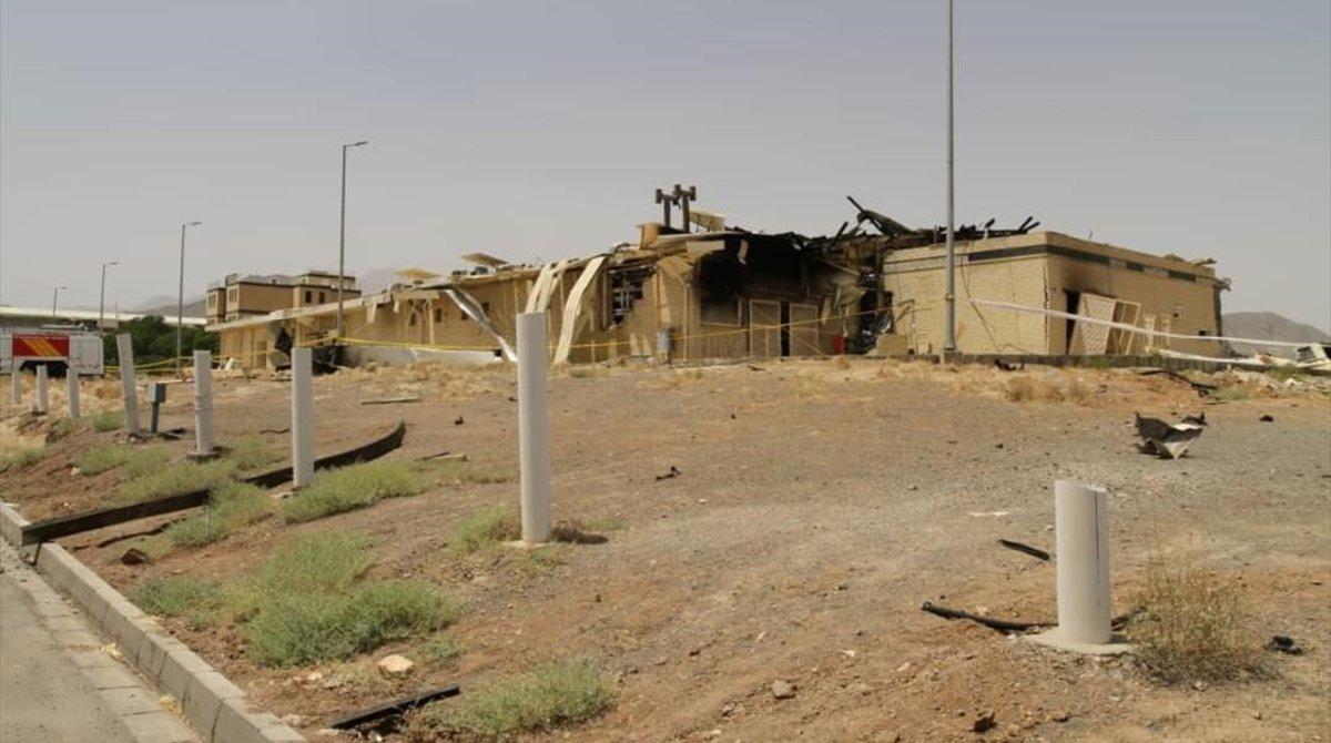 El edificio dañado de la planta de Natanz.